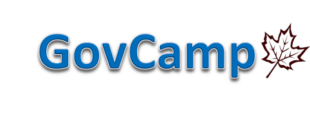 GovCampLogo just says the words GovCamp in blue with an outline of  a leaf