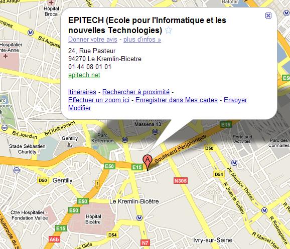 Adresse Epitech