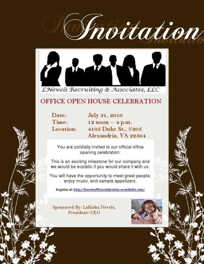 Official Opening Invitation Official Office Opening
