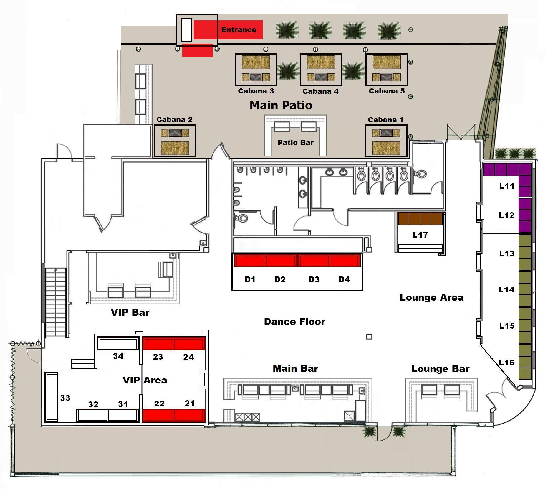 Club floor plans over 5000 house plans for Nightclub floor plans