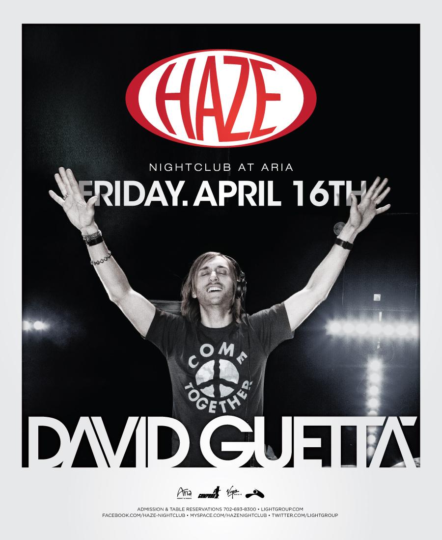 David Guetta at Haze, April 16th, 2010
