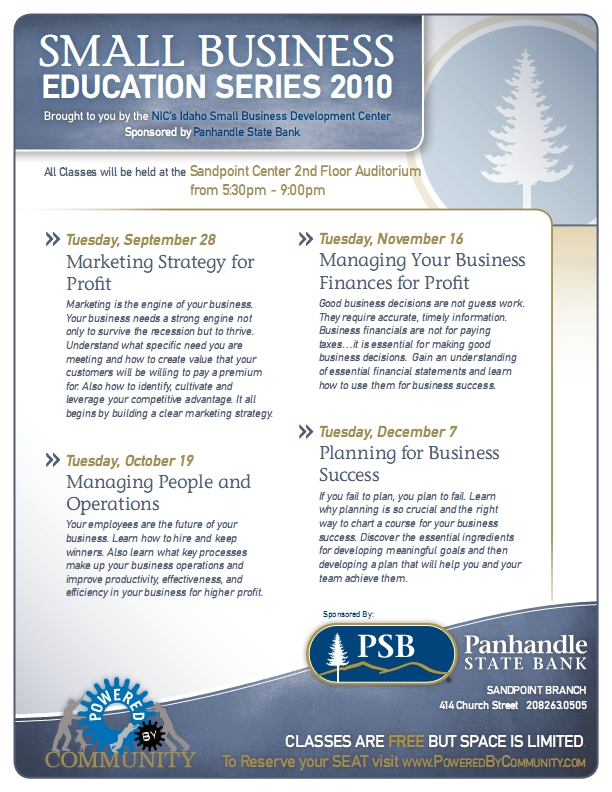 Small Business Series Flyer