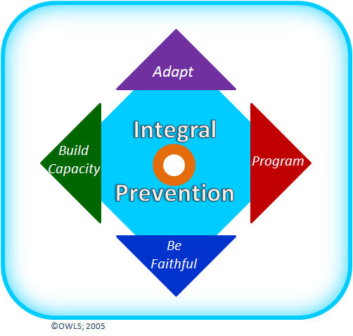 The image reflects four forces influencing prevention