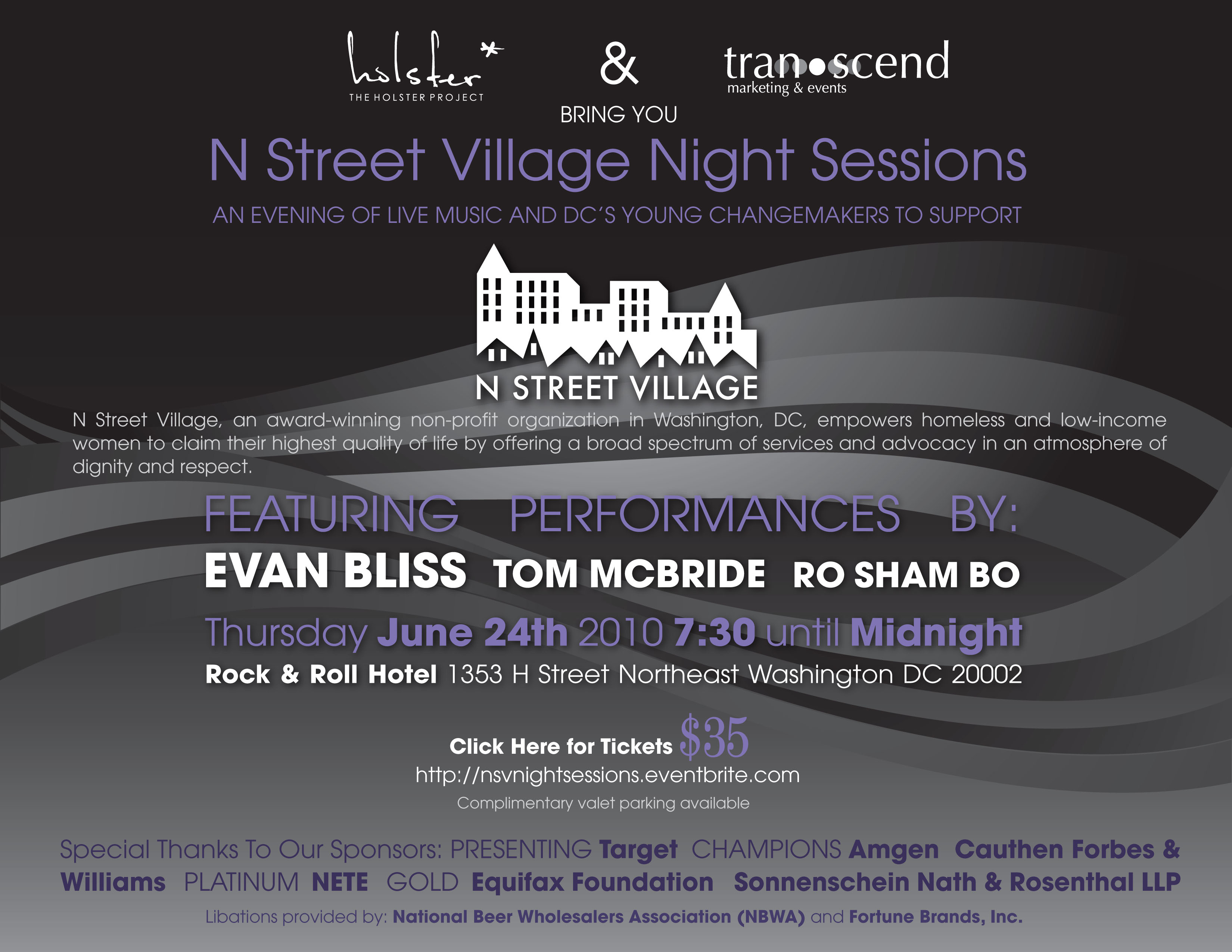 NSV night sessions flyer