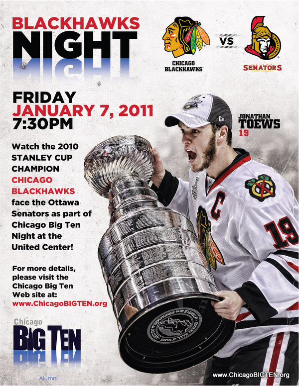 Reserve your tickets now for the Chicago BIGTEN Night at the Blackhawks! Use Promo Code: Big Ten