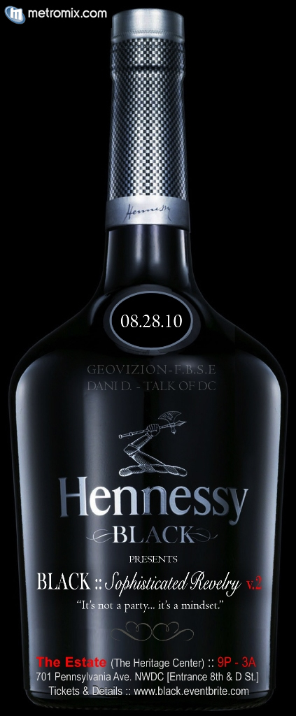 Event Flyer - BLACK ::Sophisticated Revelry v.2 sponsored by Hennessy Black