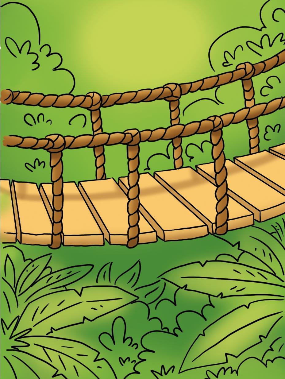 bridge with ferns