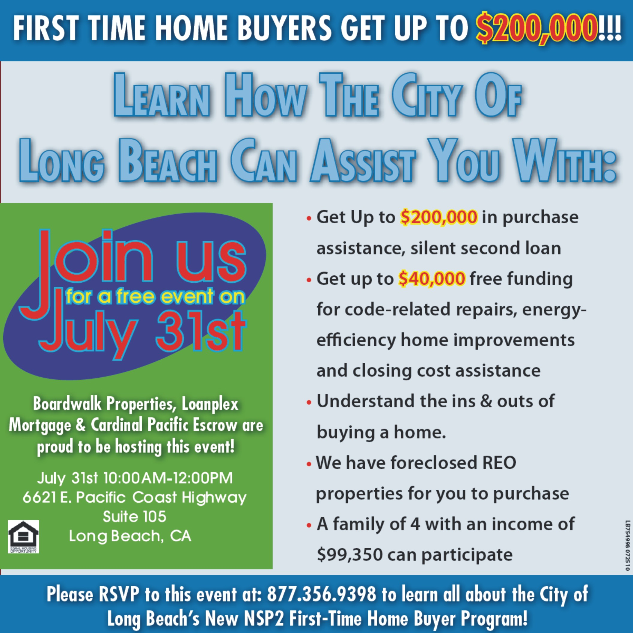 Long Beach Nsp2 Down Payment Assistance Seminar First