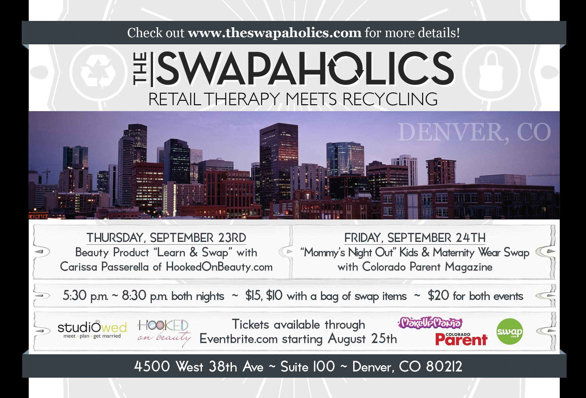 Swapaholics Denver Swaps September 2010