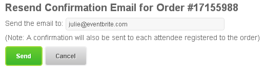 How to resend the order confirmation email
