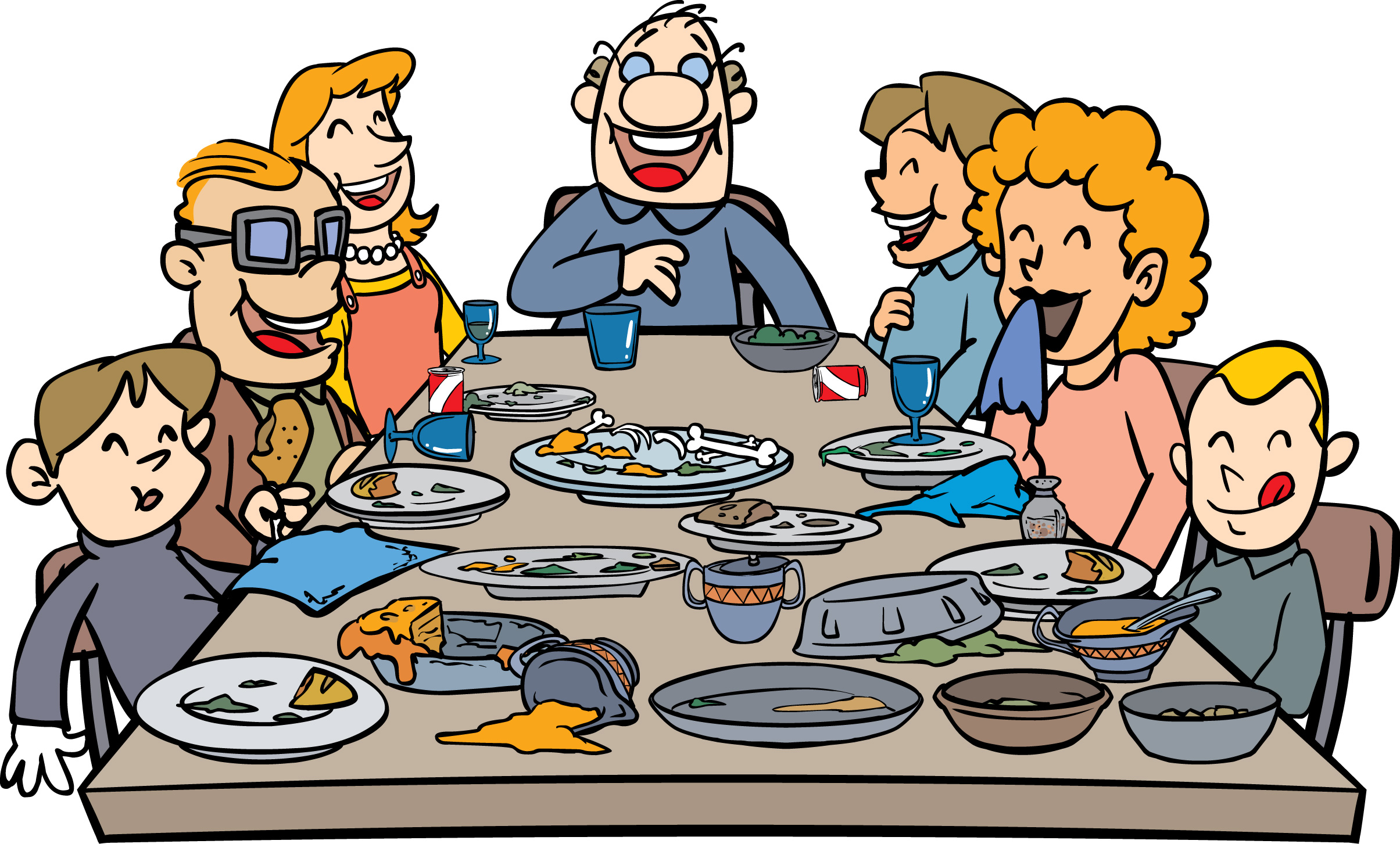 clipart thanksgiving table - photo #23